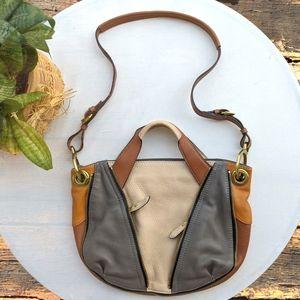 Oryany 'Lian' colorblock Leather satchel/cr